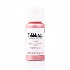 Edible Art Decorative Paint - Metallic Pink Diamond - by Sweet Sticks