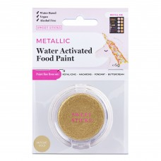 Water Activated Food Paint - Metallic Antique Gold by Sweet Sticks
