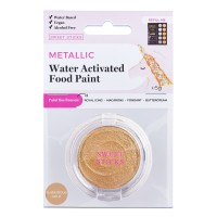 Water Activated Food Paint - Metallic Glamourous Gold by Sweet Sticks