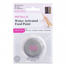 Water Activated Food Paint - Metallic Silver by Sweet Sticks