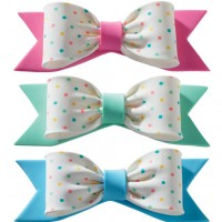 Gumpaste Pastel bows with dots by Decopac