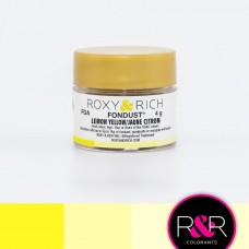 Colouring Fondust Lemon Yellow by Roxy & Rich