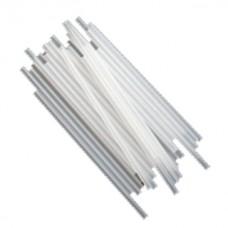 Bâtonnets à sucettes en plastique 4.5'' x 5/32'' - Blanc Semi-opaque