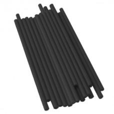 Bâtonnets à sucettes en plastique 4.5'' x 5/32'' - Noir