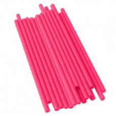 Bâtonnets à sucettes en plastique 4.5'' x 5/32'' - Rose