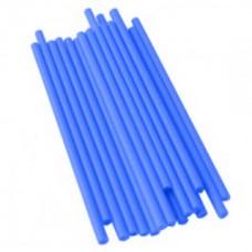 Bâtonnets à sucettes en plastique 4.5'' x 5/32'' - Bleu