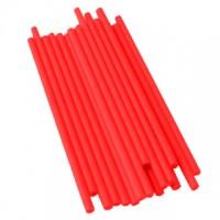 Bâtonnets à sucettes en plastique 4.5'' x 5/32'' - Rouge