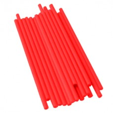Lollipops Plastic Sticks 4.5'' x 5/32'' - Red