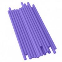 Bâtonnets à sucettes en plastique 4.5'' x 5/32'' - Mauve