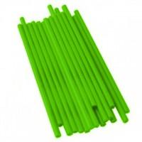 Bâtonnets à sucettes en plastique 4.5'' x 5/32'' - Lime