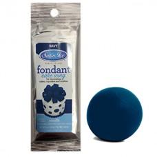 Fondant à rouler Satin Ice Bleu Marin Vanille - Pâte àsucre 125 g