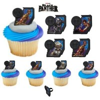 Cupcake Rings Black Panther Decorings by Decopac