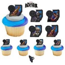 Cupcake Rings Black Panther Decorings by Decopac