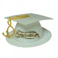 Graduation Hat - White