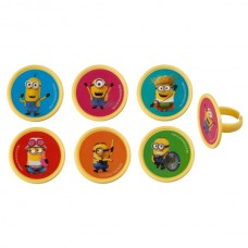 Cupcake Rings Despicable Me 3 Mayhem Minions Decoring by Decopac