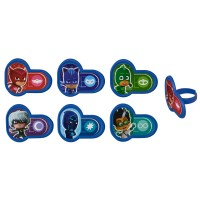Cupcake Rings Pj Masks Heroes and Villains Decorings by Decopac