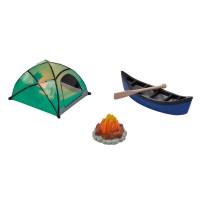 Ensemble de Camping - Tente, Canoe et Feu de Camp de DecoPac