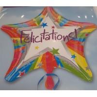 Ballon Mylar Félicitations! Étoile de Anagram