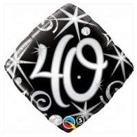 Ballon Mylar Élégant Numéro 40 de Qualatex