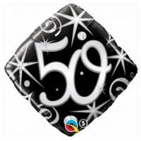 Ballon Mylar Élégant Numéro 50 de Qualatex