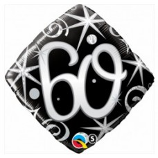 Ballon Mylar Élégant Numéro 60 de Qualatex