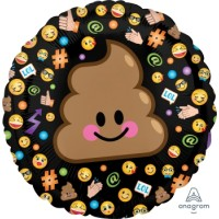 Ballon Mylar Emoticon Caca Emoji de Anagram