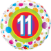 Mylar Balloon Colorful Dots Number 11 by Qualatex