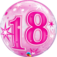 Ballon Bubble 18 Rose de Qualatex