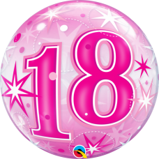 Bubble Balloon Pink 18 by Qualatex