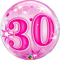 Ballon Bubble 30 Rose de Qualatex