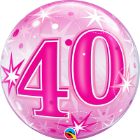 Ballon Bubble 40 Rose de Qualatex