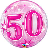 Ballon Bubble 50 Rose de Qualatex
