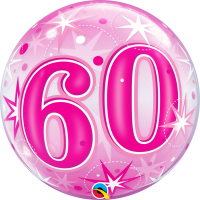 Ballon Bubble 60 Rose de Qualatex