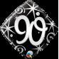 Mylar Balloon Elegant Number 90 by Qualatex