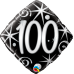 Ballon Mylar Élégant Numéro 100 de Qualatex