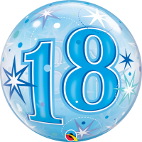 Ballon Bubble 18 Bleu de Qualatex