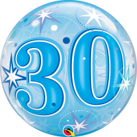 Ballon Bubble 30 Bleu de Qualatex