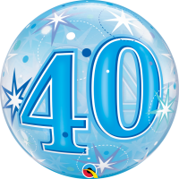 Ballon Bubble 40 Bleu de Qualatex