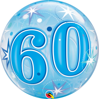 Ballon Bubble 60 Bleu de Qualatex