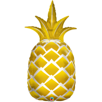 Ballon SuperShape Mylar Ananas Doré de Anagram