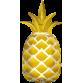 SuperShape Mylar Balloon Golden Pineapple by Anagram