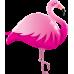 SuperShape Mylar Balloon Pink Flamingo by Anagram