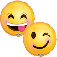 Mylar Balloon Emoticon Smiley (2-sided design) by Anagram