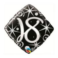 Ballon Mylar Élégant Numéro 18 de Qualatex