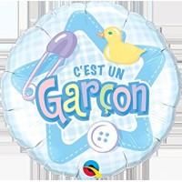 Mylar Balloon C'est un Garçon by Qualatex