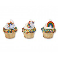 Unicorn and Rainbow Decorings by Decopac