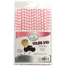 Lollipop Sticks - Paper Straws - Pink Chevron - by CK Products