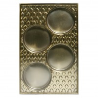 Cookie Chocolate Gold 4 Cavity Insert Box by Ck Products
