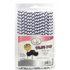 Lollipop Sticks - Paper Straws - Purple Chevron - by CK Products