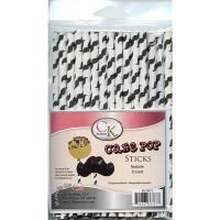 Lollipop Sticks - Paper Straws - Mustache - by CK Products